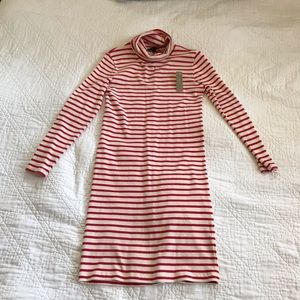 J Crew Striped turtleneck dress